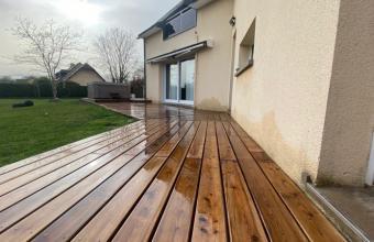 Pose de terrasse en bois CL4